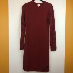 Aritzia Wilfred Italian Yarn Long Sleeve Dress